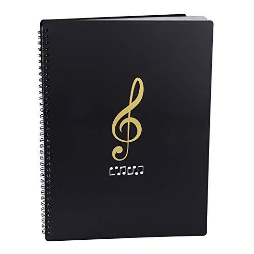 Raccoglitore Porta Spartiti Musicali Cartelle Portaspartiti per Fogli Formato A4 con 30 Tasche clef Scrivibile Borsa porta Documenti Musicale Per