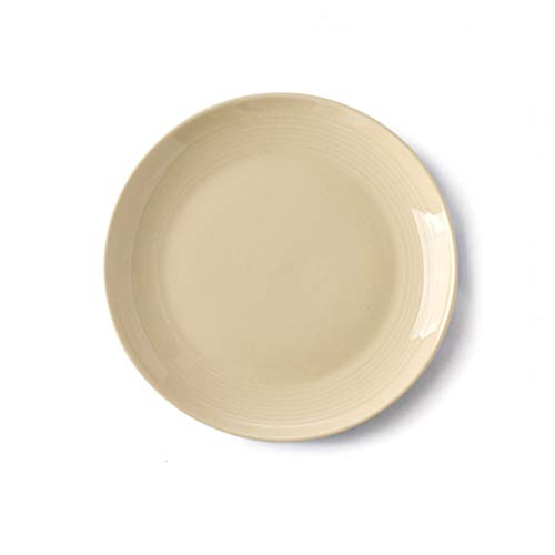 YYF Vaisselle en céramique de ménage coréen - steak/pâtes/plat 23 cm (Color : Jaune)
