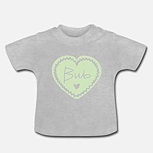 Baby T-Shirt >Bub Herzl< / Junge, Grün, Mint, München, Bayern, Herz, Geburt, Ostern, Muttertag, Easter, Baby Shower, Geschenk, Special Gift