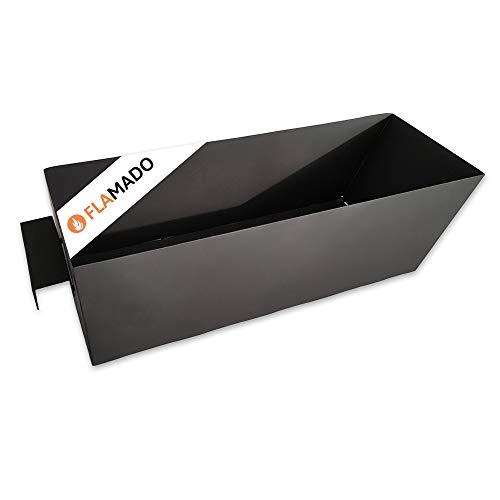 Flamado® Aschekasten 155 x 430 x 115 mm Passend Für Wamsler** Kamine | Ersatzteil Kamin/Kaminofen | Verzinktes Stahlblech Schwarz
