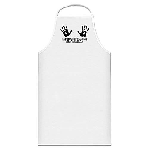 Shirtcity Brustvergrößerung durch Handauflegen Kochschürze by