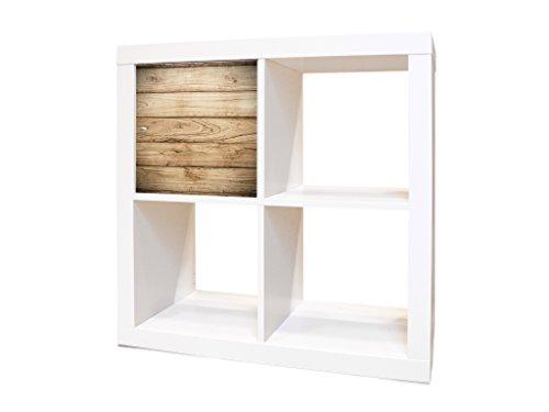 YOURDEA - IKEA KALLAX / Expedit Regalfach Möbelsticker mit Motiv Holzplanken