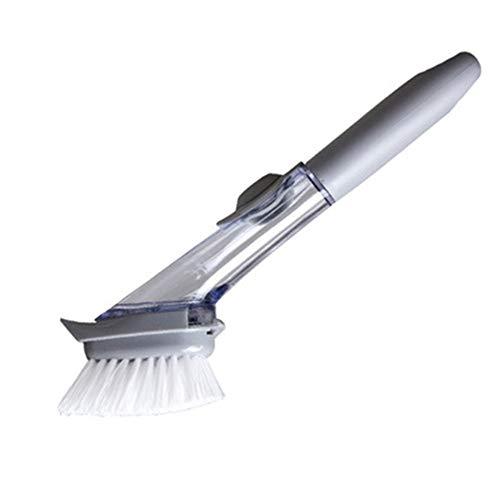 WRF Automatische Flüssigkeits-Soap Sponge Dishwashing Brush-Long Handle Seife Dispenser Antibakterielle Küche Sink Scrubber Macht die Reinigung Spaß-Küse Pinsel putzen -