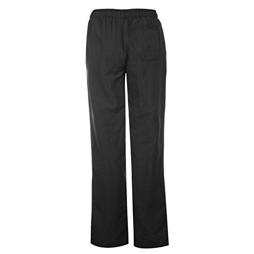 LA Gear Femmes Pantalon tissé à ourlet ouvert Noir