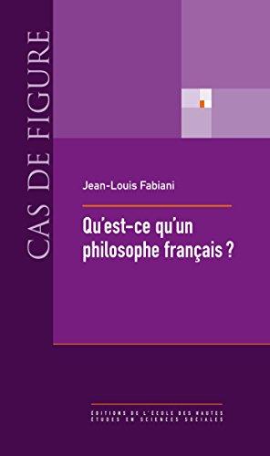 Qu'est-ce qu'un philosophe français?: La vie sociale des concepts (1880-1980)