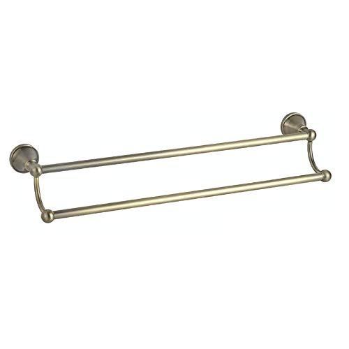 Ludage Qualität Handtuchhalter,grüne Bronze Wand-Bad Handtuch Rack verdickten Basis Regal Lagerung Doppelschienen Rack -