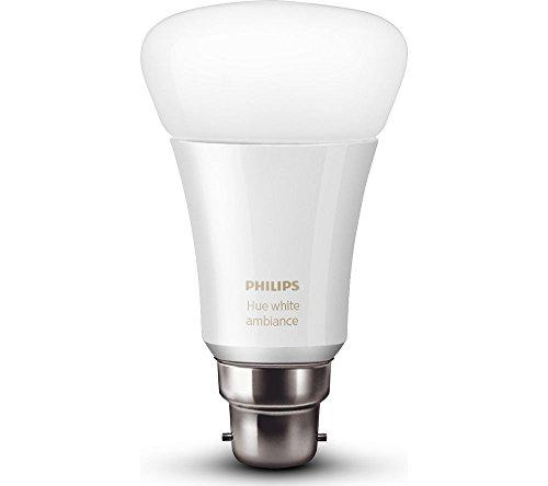 Philips Hue Base B22 10-Watt LED Bulb (White and Color Ambiance)