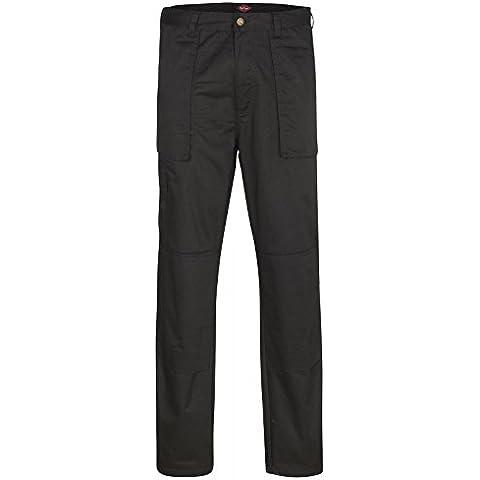 Lee Cooper LCPNT226 - MENS WORKWEAR PANT - BLACK - 30L - Negro, Tamaño 30 - Long Bragas De Los Hombres Trabajo Cargo Wear