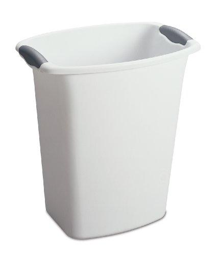 Sterilite Schmortopf Abfalleimer, 6er Pack, White With Titanium Inserts, 12-quart