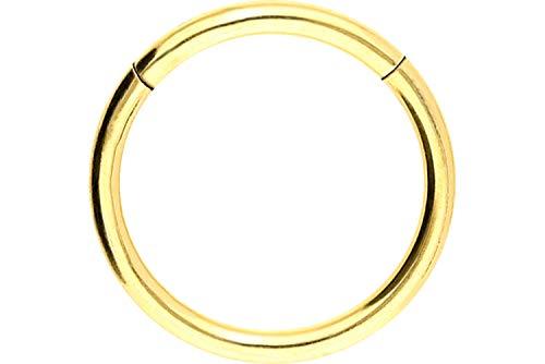 PIERCINGLINE Chirurgenstahl Segmentring Clicker | goldfarben | Piercing ✔ Ring ✔ Septum ✔ Helix ✔ Tragus ✔