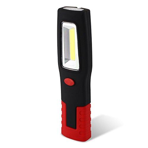 SNAN 3W LED COB 260LM Arbeitslicht Werkstattleuchte mit starken Magneten für Camping, Auto, Garage, Notfall