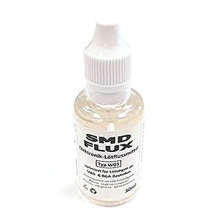 Elektronik-Flussmittel SMD-/BGA-FLUX W03 (3,5% Feststoff) NoClean 30ml - Für BGA-Reflow, SMD-Auftragslöten