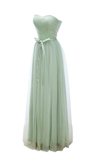 Promgirl House Damen Stilvoll A-Linie Herz-Ausschnitt Brautjungfernkleider Lang Ballkleider Abendkleider 2015 Grün