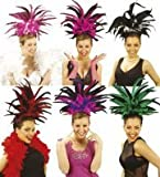 Copacabana Feather Headband Hat for South American Brazil Brasilian Carnival Fancy Dress Accessory