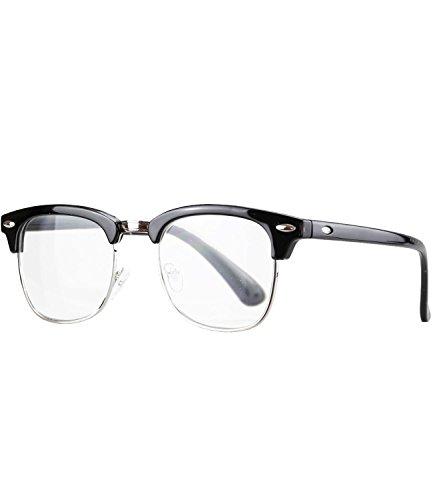 Caripe Lesebrille Herren Damen Retro Brille 50er 60er Nerd Lesehilfe - M4082 (+ 3,0 dpt, schwarz)