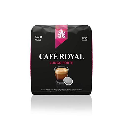Café Royal Lungo Forte, 180 pads compatibles pour Senseo, pack de 5 (5 x 36 pads)