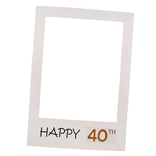 Sharplace Photo Booth Cornice Per Selfie Frame Foto Props Festa Di Anniversario Compleanno 40 50 Happy Birthday - 40th