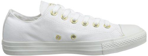 Converse - Chuck Taylor All Star Studs Ox, Sneaker Unisex – Bambini Blanc