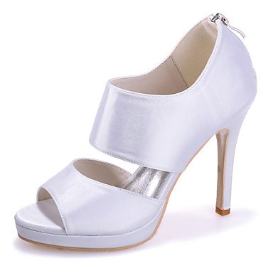 RTRY Scarpe Donna Seta Stiletto Heel Punta Aperta Sandali Matrimoni/Parte &Amp; Sera Scarpe Matrimonio Più Colori Disponibili US9.5-10 / EU41 / UK7.5-8 / CN42