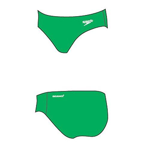 Speedo Kostüm Schwimmen - Speedo Herren End + 7 cm Brief Mann Badeanzug, Lawn/White, 34