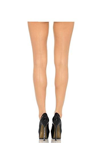 Leg Avenue Damen plus size Strumpfhose nude transparent mit Rücknaht 1XL bis 2XL ca. 46 bis 50