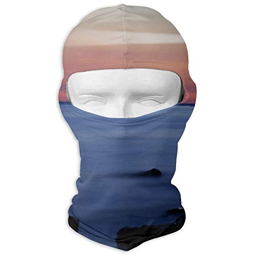 Fsrkje Sea Wave Island Lighthouse Outdoor Cycling Ski Motorcycle Balaclava Mask Sunscreen Hat Windproof Ca