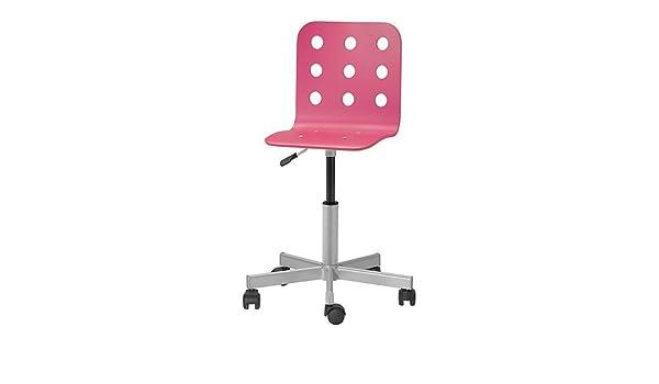 stunning ikea jules chaise de bureau junior couleur argent rose amazonfr cuisine u maison with. Black Bedroom Furniture Sets. Home Design Ideas
