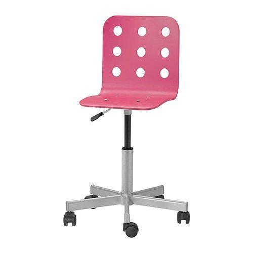 Preisvergleich Produktbild Ikea Jules Schreibtischstuhl für Kinder; in Rosa / Silberfarben; höhenverstellbar