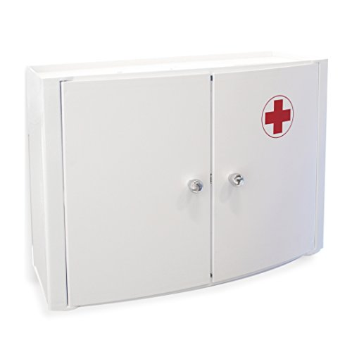 tatay-4439009-gabinete-horizontal-con-dos-puertas-farmacia-de-plastico-blanco-de-46-x-17-x-32-cm