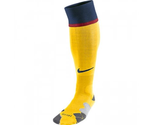 Nike Herren Socken Fc Barcelona Away Sock, Tour Yellow/Midnight Navy/Midnight Navy, L, 478319