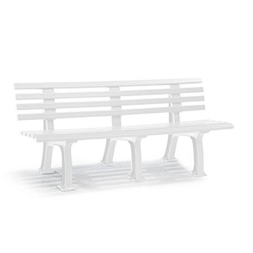 Parkbank aus Kunststoff – mit 9 Leisten – Breite 1500 mm, weiß – Bank Bank aus Holz, Metall, Kunststoff Bänke aus Holz, Metall, Kunststoff Gartenbank Kunststoff-Bank Kunststoff-Bänke Ruhebank - 7