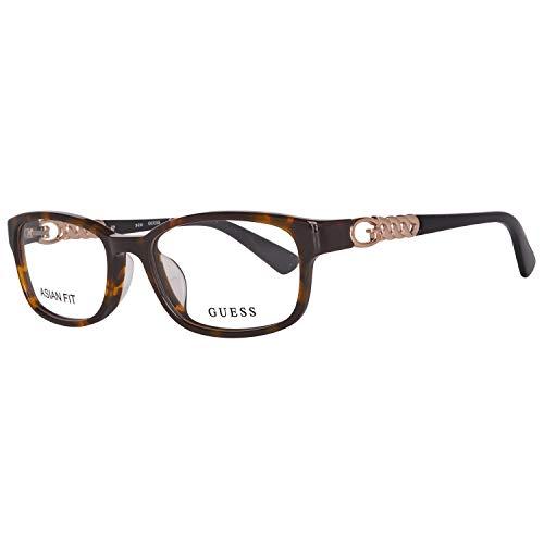 Guess Damen Brille Gu2558-F 52052 Brillengestelle, Braun, 52