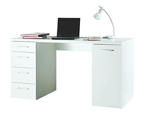 Avanti trendstore - combo - scrivania con 4 cassetti ed 1 vano laterale con anta, in laminato, disponibile in 2 diversi colori, dimensioni: lap 139x74x60 cm (bianco)