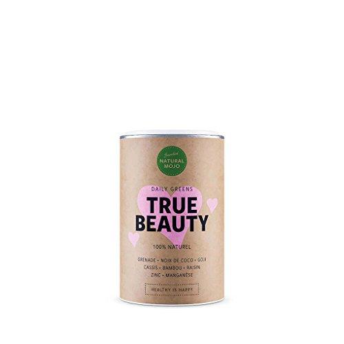 Natural Mojo True Beauty – Kur als lösliches Pulver (150 g) – stärkt Haare und Nägel – unterstützt äußere Schönheit von innen – mit Himbeer-Geschmack