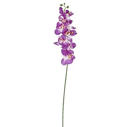 winomo artificiales mariposa Orquídea Flor Planta Home Decoración (Lila)