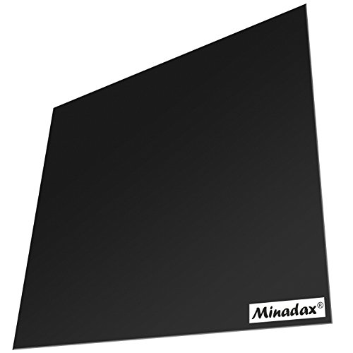 Minadax® PEI Druckplatte 250 x 250 mm in Schwarz für 3D Druck, 3D-Modelldruck, FDM Druck