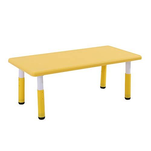 ZHAOHUI Kindertisch Mit Stühlen PP Kunststoff Dauerhaft Spiel Lesen Tabelle Stuhl Schlafzimmer Kindergarten Draussen, 4 Farben (Color : Yellow-A) (Tabelle Lesen)