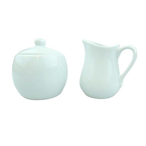 Bid Buy Direct® Cerámica crema y azúcar Set | dispensador de azucarero y jarrita juego para té y café–la mejor manera para disfrutar del té o café–Ideal regalo para cualquier ocasión.