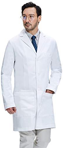 Dr. James Herren Laborkittel, Semi-Taillierte Passform, Smartphone und Tablet Taschen (M)