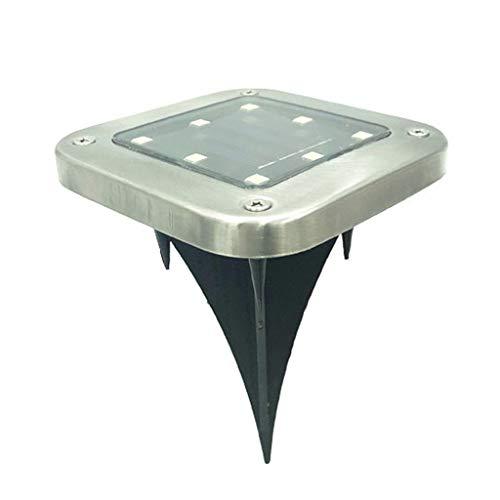 Nncande Quadratisches Bodenleuchte Wasserdicht Led-Solarenergie Begrub Lampe In Der Wegweise-Bodenlampe Im Freien Solarlicht Dekoration-Sonnenkollektor + 8 LED-Lampenperlen100x100 x140mm