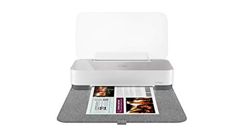 HP Tango X Smart Home Drucker (HP Instant Ink, WLAN, Bluetooth, graues Wrap Pad) weiß/grau