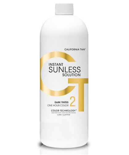 California Tan Instant Dark Sunless Solution Tinted Technology 1L