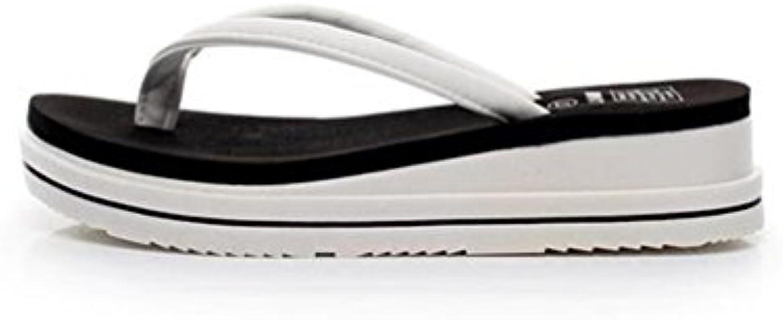 boowhol femmes est est est épais bas summer tongs fine ceinture pantoufles antidérapantes les sandales de plage 744cca