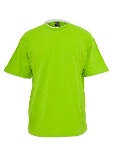 Urban Classics Herren T-Shirt slimfit Rundhals Contrast Tall Tee Hellgrün