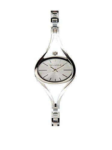 Ted Lapidus B0230ABIA - Reloj de pulsera mujer, piel, color plateado