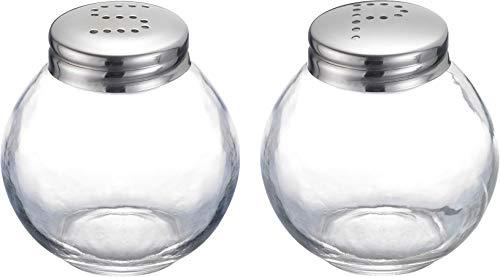 Westmark Salz- und Pfefferstreuer-Set, 2-tlg., Fassungsvermögen je 50 ml, Glas/Rostfreier Edelstahl, Roma, Transparent/Silber, 65462270 Silber Salz