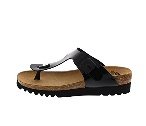 Scholl Boa Vista Up Black Patent Synthetic Black Patent