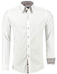 Barbons Herren Hemd - Slim - Fit - Langarm - Premium Bügelleicht Hemden für  Business, c4fa68d886