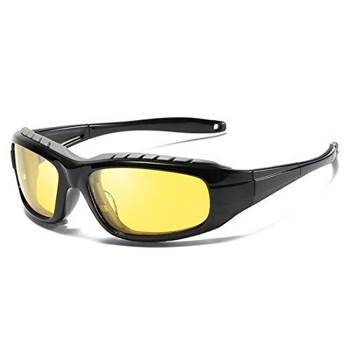 Herren Fahren Sonnenbrillen Polarisierte Brille Sport Eyewear Angeln Golf Brille Outdoor Sports Schutzbrille Für Radfahren Angeln Golf Strand UV Schutz Schutzbrille (Color : Yellow, Size : M)