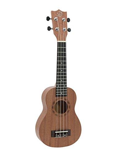 Set aus 2 x Sopran Ukulelen UGWAI aus Linde, braun - 4-saitige Hawaiigitarre / kleine Gitarre aus Basswood - klangbeisser